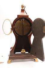 A George III mahogany mantel clock Grignon, Covent Garden