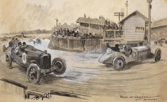 Brian de Grineau (English 1883-1957); 'Brooklands',