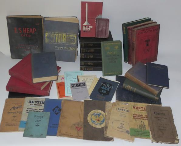 Assorted technical books and literature,