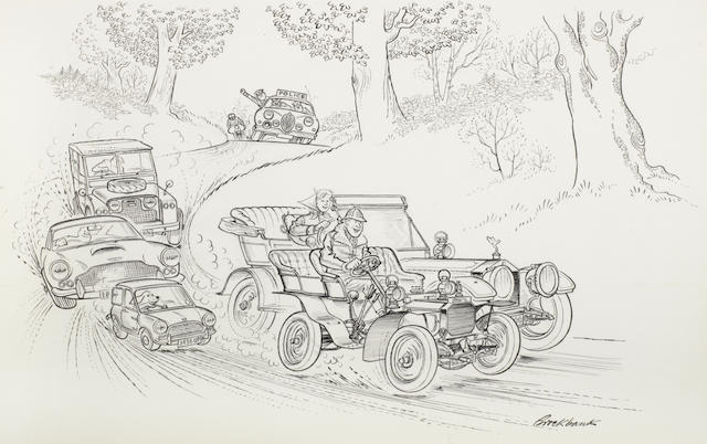 Russell Brockbank (1913-1979), 'Police Chase',