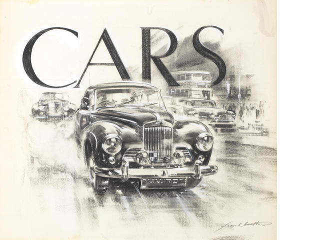 Frank Wootton (British 1914-1998), 'Cars', an original book cover illustration,