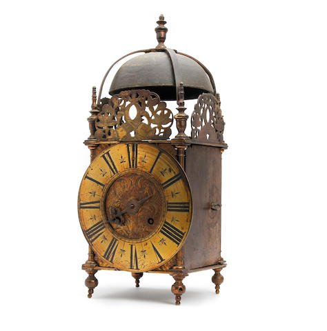 A part early 18th Century English brass lantern clock John Culliford, Bristol