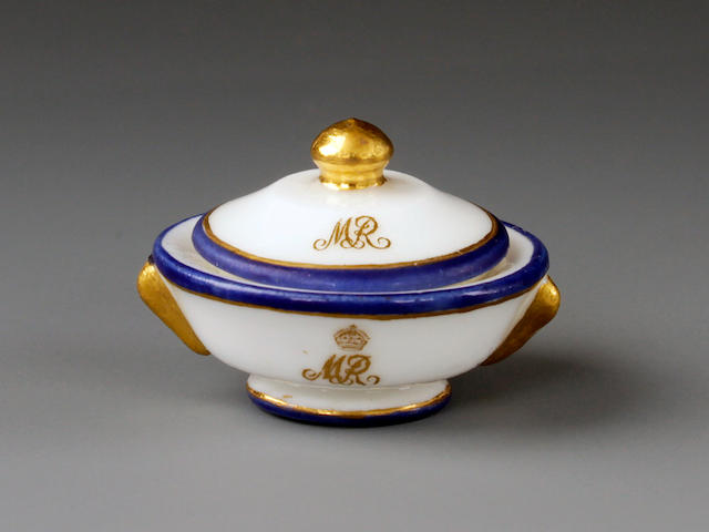 A rare Minton miniature bowl and cover, circa 1924