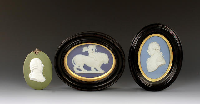 Three Wedgwood plaques, 19th and 20th century