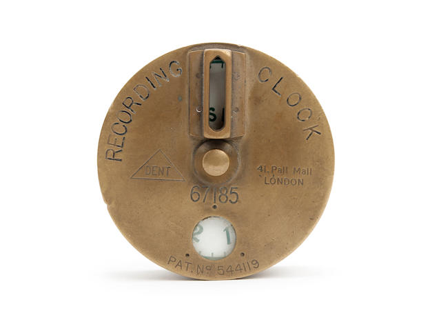 An early 20th century portable watchmans recording Tell Tale timepiece Dent