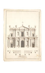 ARCHITECTURAL DRAWINGS. Collection of twelve late seventeenth or early eighteenth century architectural drawings
