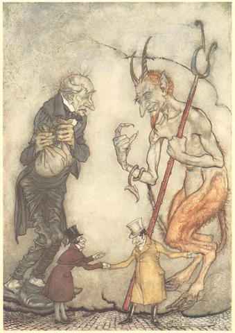 RACKHAM (ARTHUR) DICKENS (CHARLES) A Christmas Carol, William Heinemann, [1915]