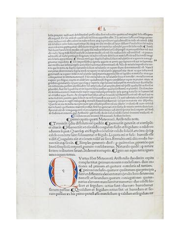 ARISTOTLE [LE FEVRE (JACQUES D'ETAPLES) Totius philosophiae naturalis paraphrases et familiaris commentarius], 1501