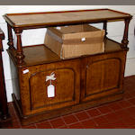 A Victorian oak dining room buffet