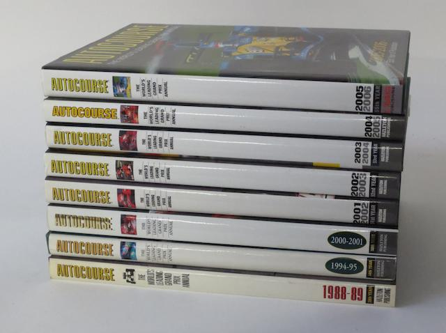 Eight volumes of Autocourse,