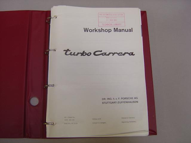 A Porsche 911 Turbo Carrera Workshop manual, 1976,