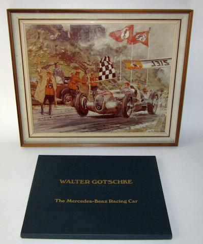 A boxed set of 'The Mercedes-Benz Racing Car' prints after Walter Gotschke,