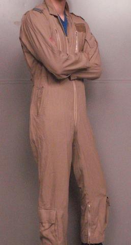 A 1991 Gulf War RAF Flight Lieutenant's overalls,