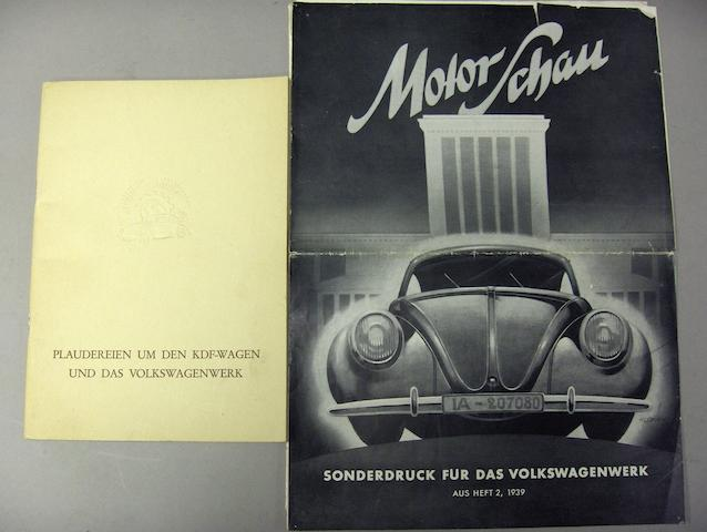 Two Volkswagen brochures,