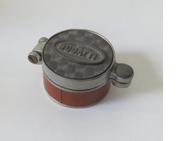 A Bugatti petrol cap deskpiece,