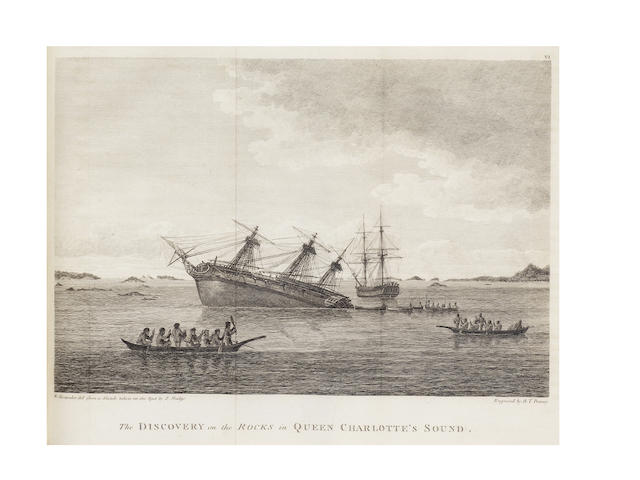 VANCOUVER (GEORGE) A Voyage of Discovery to the North Pacific Ocean, and Round the World, 6 vol., 1801