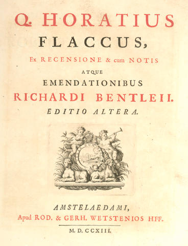 HORATIUS FLACCIUS (QUINTUS) [Opera], 1713; and 7 others (8)