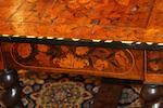 A William and Mary walnut and floral marquetry centre table