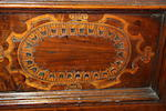 An Italian 17th century and later inlaid walnut cassone