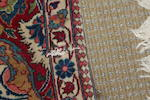 A Kashan part-silk prayer rug