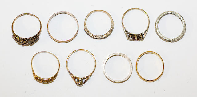 A collection of rings, (9)
