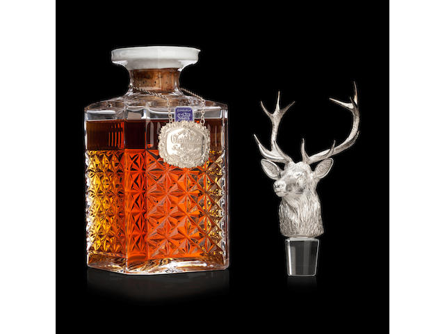 Glenfiddich Silver Stag's Head Decanter-30 year old