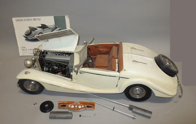 A 1:8 scale Mercedes-Benz 540K Cabriolet Special model by Pocher,