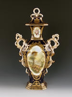 A Minton 'Chelsea Vase' and cover, circa 1835-40