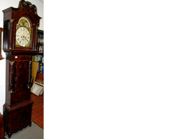 William Greatbatch, Birmingham: A Victorian mahogany longcase clock