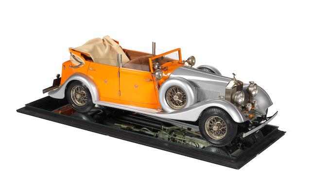 A 1:8 scale model of a 1934 Rolls-Royce Torpedo Cabriolet by Pocher, Italian,