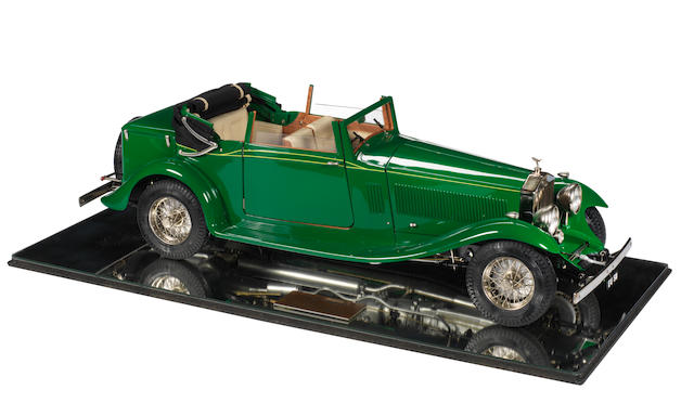 A 1:8 scale model of a 1933 Rolls-Royce Phantom II Ambassador by Pocher, Italian,