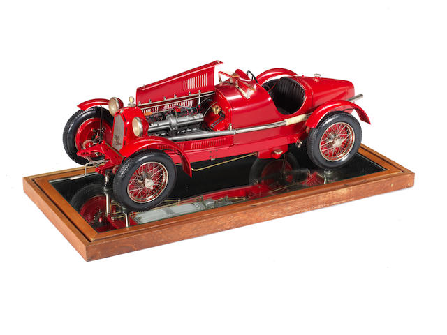 A 1:8 scale model of a 1931 Alfa Romeo 8C 2300 Monza by Pocher, Italian,