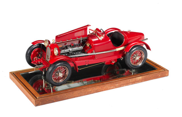A 1:8 scale model of a 1931 Alfa Romeo 8C 2300 Monza by Pocher, Italian,