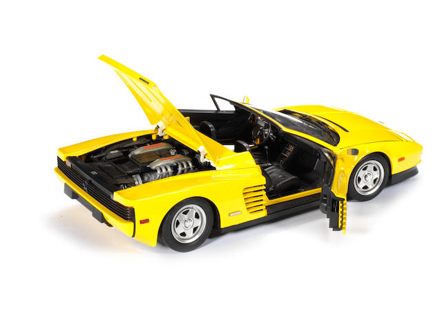 A 1:8 scale model of a Ferrari Testarossa Spyder, Pocher by Rivarossi, Italian,