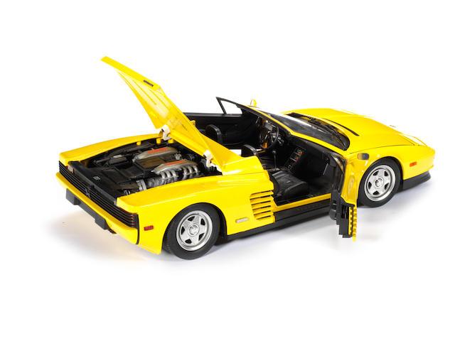 A 1:8 scale model of a Ferrari Testarossa Spyder, Pocher by Rivarossi, Italian,