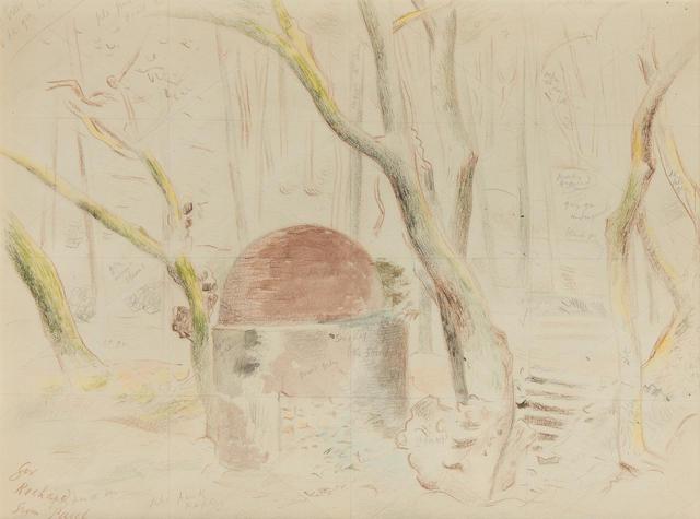 Paul Nash (British, 1889-1946) 'Well at Tamaris'