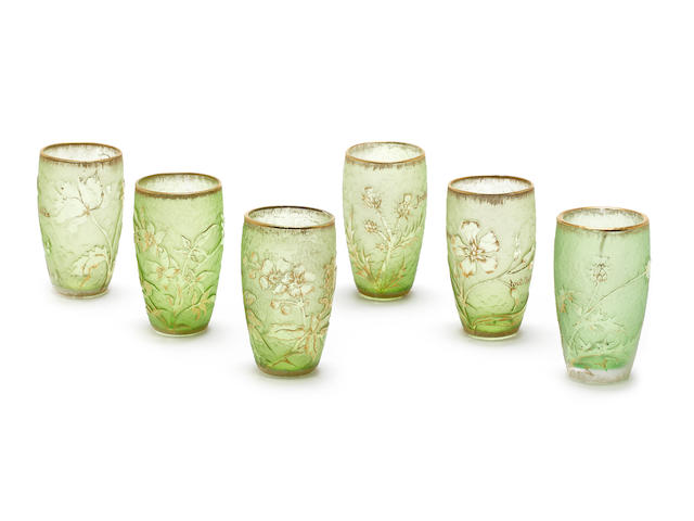 Daum A Set of Six Liqueur Glasses, circa 1900