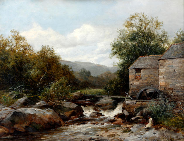 David Bates (British, 1840-1921) 'A Mill on the Llugwy'