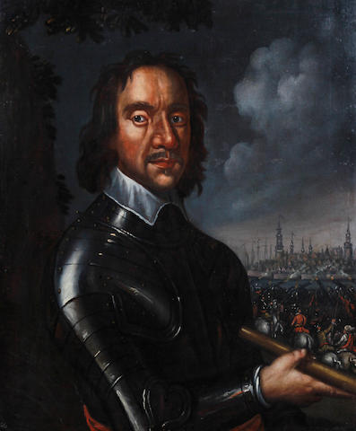 Follower of Robert Walker (? circa 1607-circa 1658 London) Portrait of Oliver Cromwell, half-length, in armour,