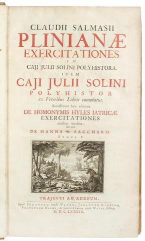 DIONYSIUS, of Halicarnassus Delle cose antiche della Citta di Roma, 1545; and Saumaise. Plinianae, 1689 (2)