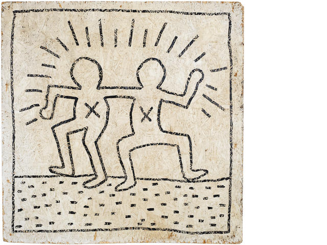 Keith Haring (American, 1958-1990) 'Dancing Men' circa 1984