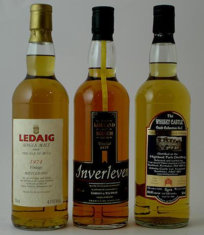 Ledaig-Vintage 1974<BR /> Inverleven-1979<BR /> Highland Park-11 year old-1998