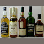 Lochnagar-12 year old<BR /> The Knockdhu-12 year old<BR /> Lagavulin-16 year old<BR /> Ardbeg-10 year old<BR /> Edradour-10 year old