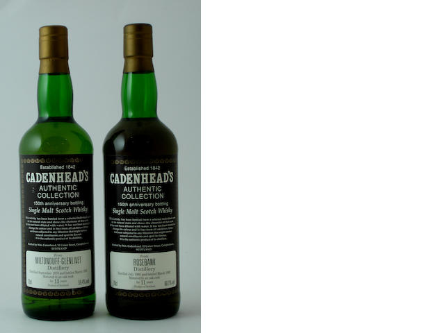 Miltonduff-Glenlivet-13 year old-1978<BR /> Rosebank-11 year old-1980