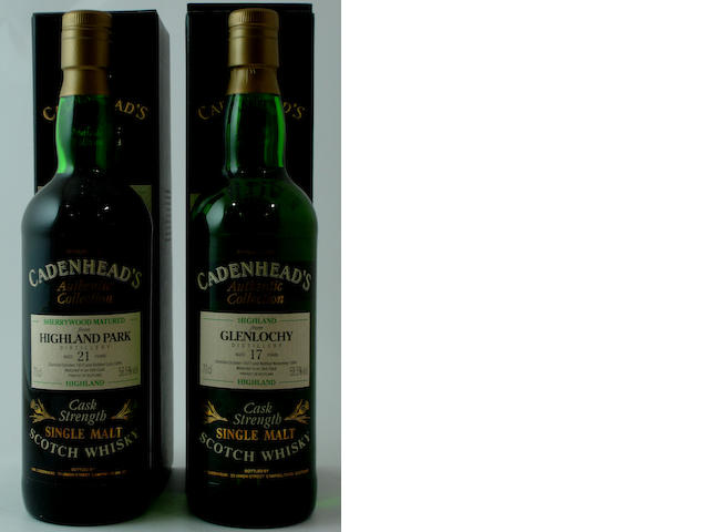 Highland Park-21 year old-1972<BR /> Glenlochy-17 year old-1977