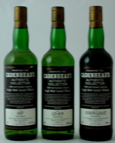 Banff-15 year old-1976<BR /> Glen Mhor-15 year old-1976<BR /> Longmorn-Glenlivet-17 year old-1974