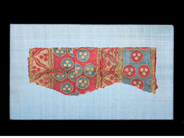 Ottoman silk, fragment of a short costume, 2nd half of the 15th century