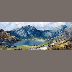 Charles Wyatt Warren (British, 1908-1983) 'Llyn Ogwen and Y Garn'