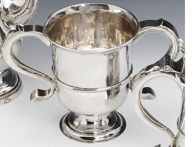 A George II silver two-handled cup by John Langlands I, Newcastle, 1759