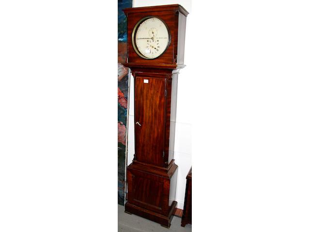 George Watkins, 132 Drury Lane: A mid-19th Century mahogany longcase clock
